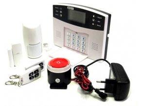Bezdrátový a drátový domovní GSM alarm s klávesnicí, 99 bezdrátových a 7 drátových zón