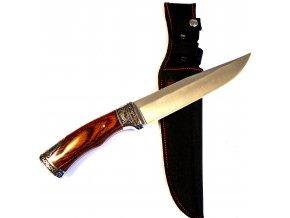 Velký nůž s pouzdrem a zdobenou rukojetí 32 cm