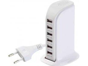 Stolní nabíječka USB 6-port 30W
