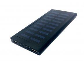Solární powerbanka 20000 mAh s LED svítilnou