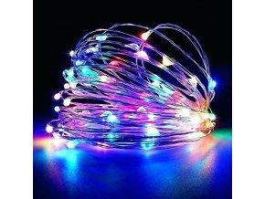 30LED barevný, světelný drátek 3 m