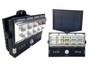 Solární 50 LED reflektor s pohybovým čidlem