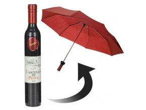Deštník ve tvaru láhve, na víno - černá