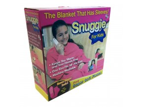 Deka s rukávy Snuggie pro děti - růžová