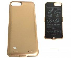 Nabíjecí kryt, powerbanka 10000mAh pro iPhone 6 plus/7 plus - zlatá