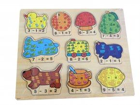 Matematické skládací puzzle pro děti
