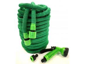 Smršťovací zahradní hadice s profi pláštěm 7,5 m - zelená