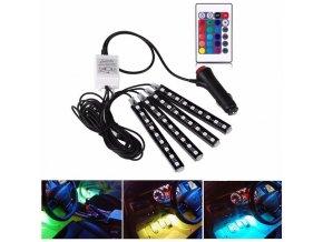 LED osvětlení interiéru do auta s dálkovým ovládáním