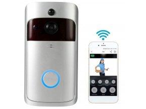 Bezdrátový bezpečnostní Wifi zvonek, detekce pohybu, noční vidění