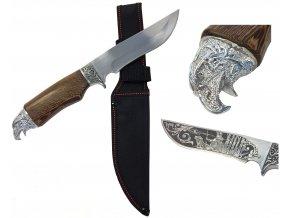 Velký zdobený nůž s rukojetí orla 28 cm