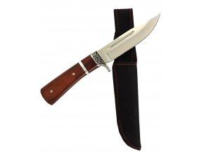 Velký nůž s pouzdrem 27 cm, zdobená střenka