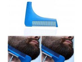 Hřeben, šablona pro tvarování a úpravu vousů