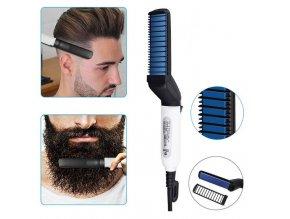 Multifunkční, nahřívací žehlička na vousy a vlasy