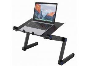 Skládací a polohovatelný stolek pro notebook s možností rotace o 360°