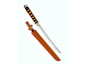Ocelová mačeta v koženém pouzdře 70 cm