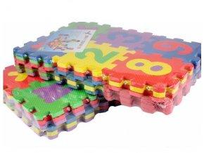 Pěnové puzzle s vyjímatelnými čísly a písmeny. MIX 36 Ks