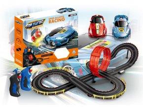 Autodráha Race 2 ks závodních aut v měřítku 1:43 a délkou 700 cm