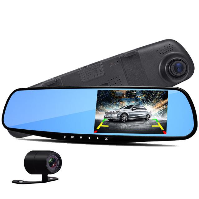 """Balentes Kamera do auta ve zpětném zrcátku se zpětnou kamerou LCD 4,3"""""""