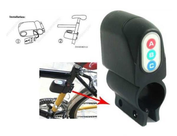 Balentes Alarm na kolo s detekcí manipulace zaparkovaného kola se sirenou 110 dB.