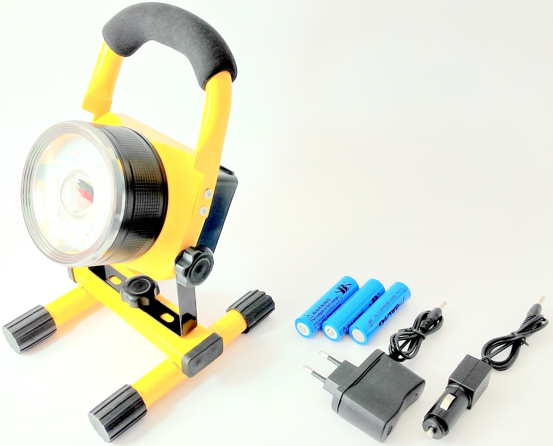 LURECOM Nabíjecí reflektor 30w s možností výstražného svitu