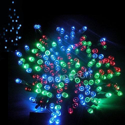 Balentes Vánoční světelný řetěz 100LED délka 10m vnitřní - Barevné