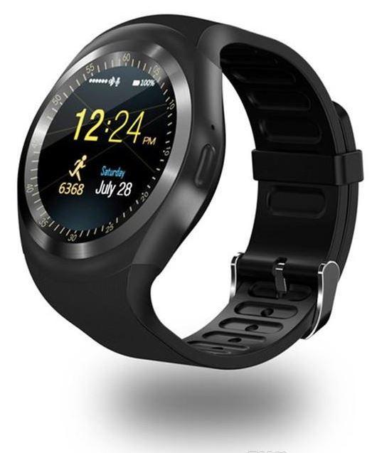 LURECOM Kulaté, bluetooth, smart watch chytré hodinky - černá