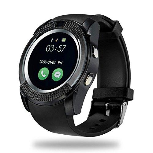 LURECOM Bluetooth, chytré hodinky kulaté smart watch - Černá