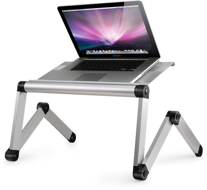 Laptray Kloubový, polohovací a přenosný stolek na notebook - Bílá - s možností rotace o 360°
