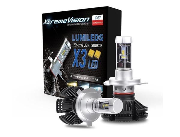 Lurecom Set dvou výkonných LED autožárovek H4, 2x 50W LED H4-2x 50W