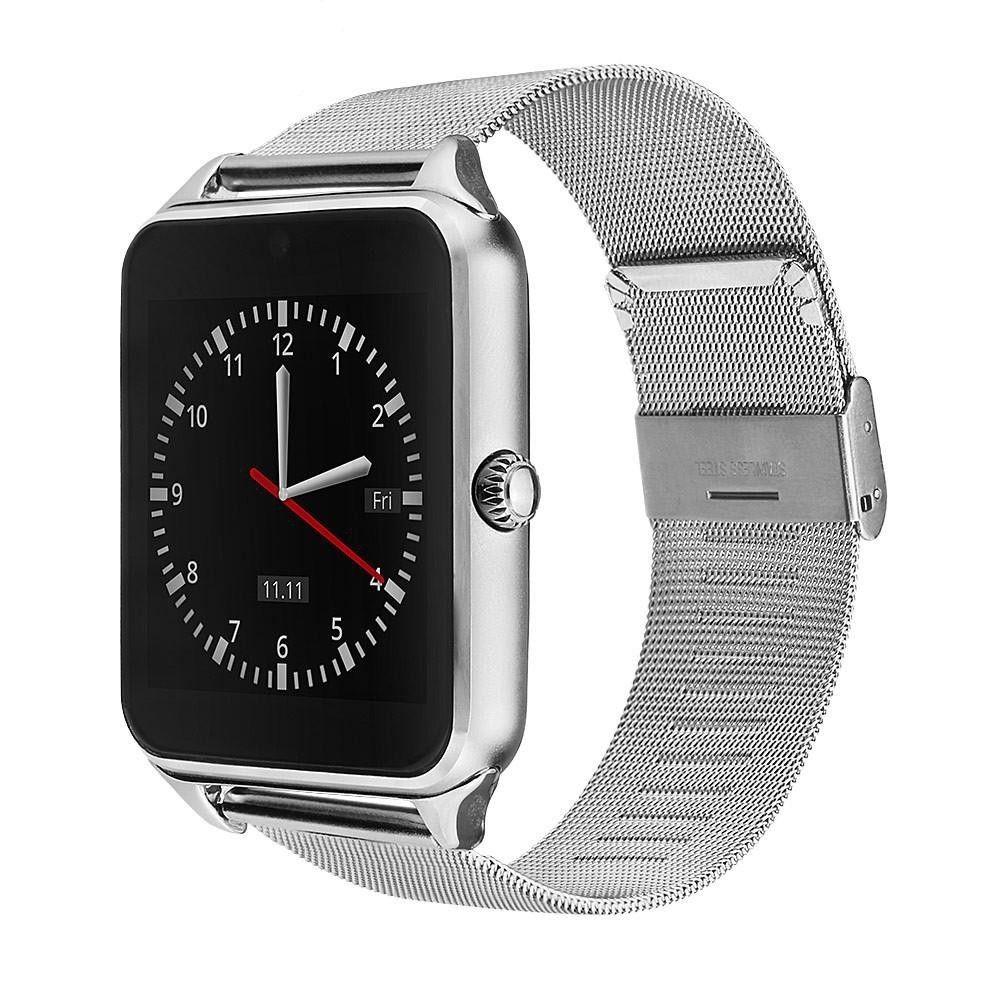 Bls Chytré bluetooth hodinky (smart watch) s kovovým páskem - Stříbrná