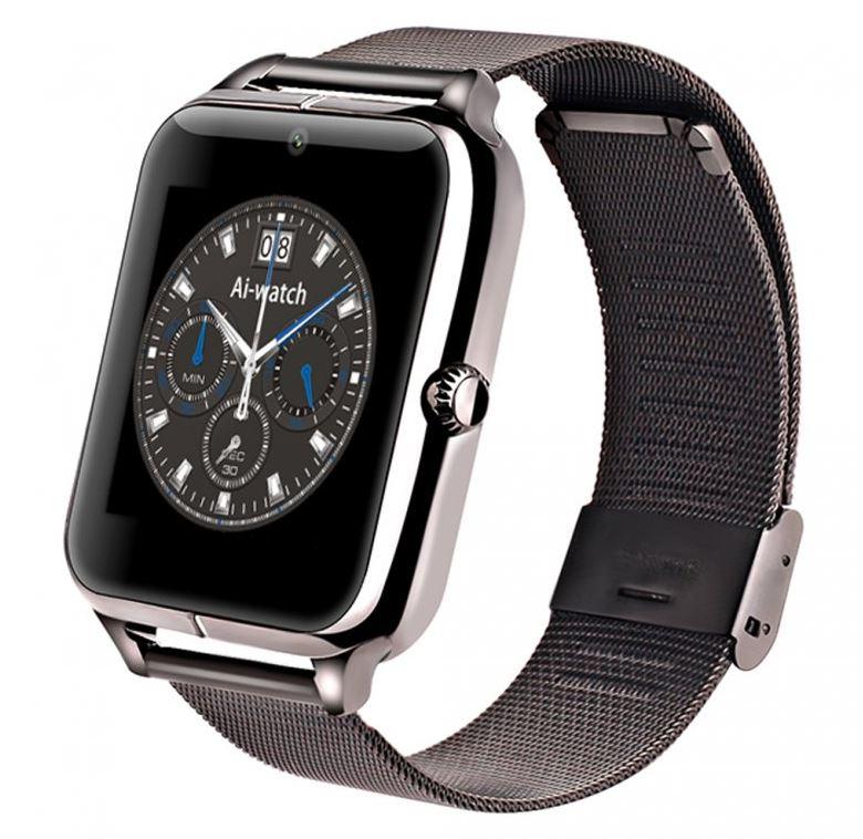 Bls Chytré bluetooth hodinky (smart watch) s kovovým páskem - Černá