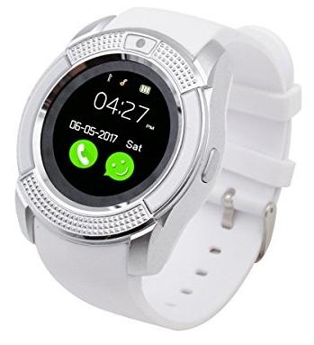 Bls Bluetooth, chytré hodinky kulaté smart watch - Bílá