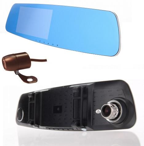 """LURECOM Kamera dvr 8509 ve zpětném zrcátku se zpětnou kamerou a 5"""" displayem Kvalitní LCD"""