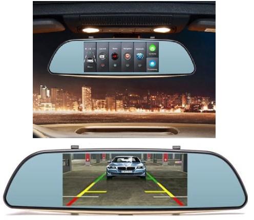 Bst Duální 3G CZ kamera do auta v zrcátku se záznamem, Wifi, Bluetooth, GPS a velkým displejem