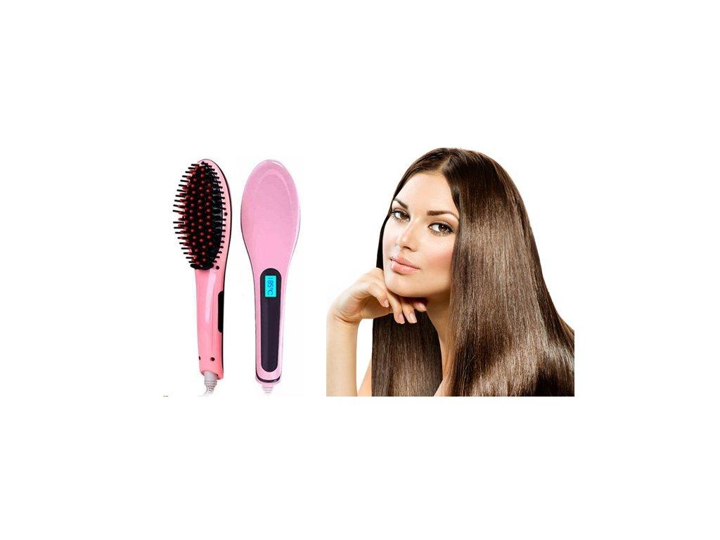Ionizační kartáč na vlasy s LCD displejem na žehlení vlasů