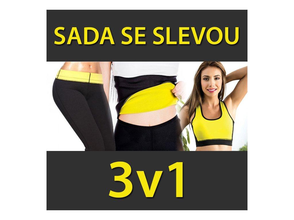 SADA 3v1 - Legíny, pás, podprsenka na hubnutí Velikost:
