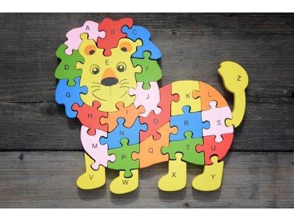 Dřevěné puzzle - vzdělávací