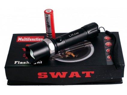 Multifunkční policejní baterka SWAT - dosvit až 200 metrů!