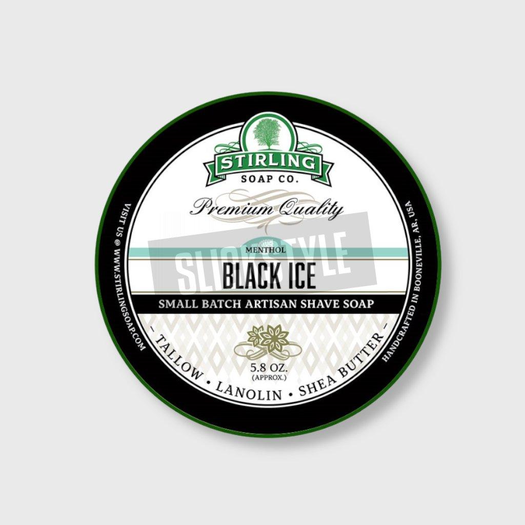 stirling soap company black ice mydlo na holeni