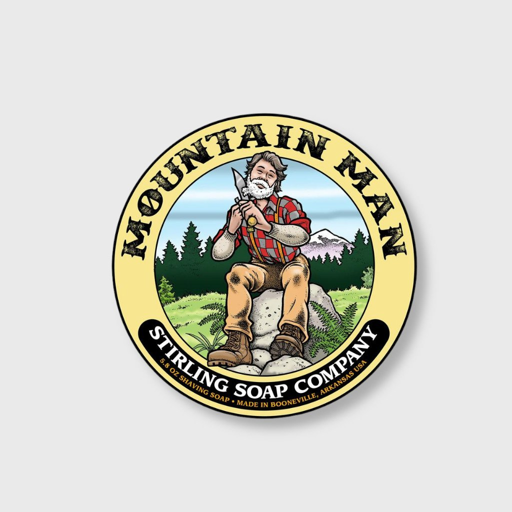 stirling soap company mountain man mydlo na holeni