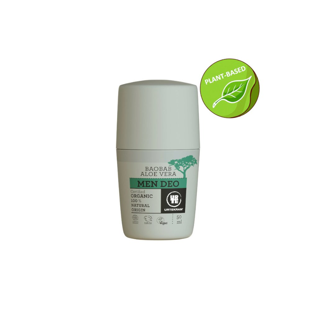 urtekram men baobab aloe deodorant 50 ml