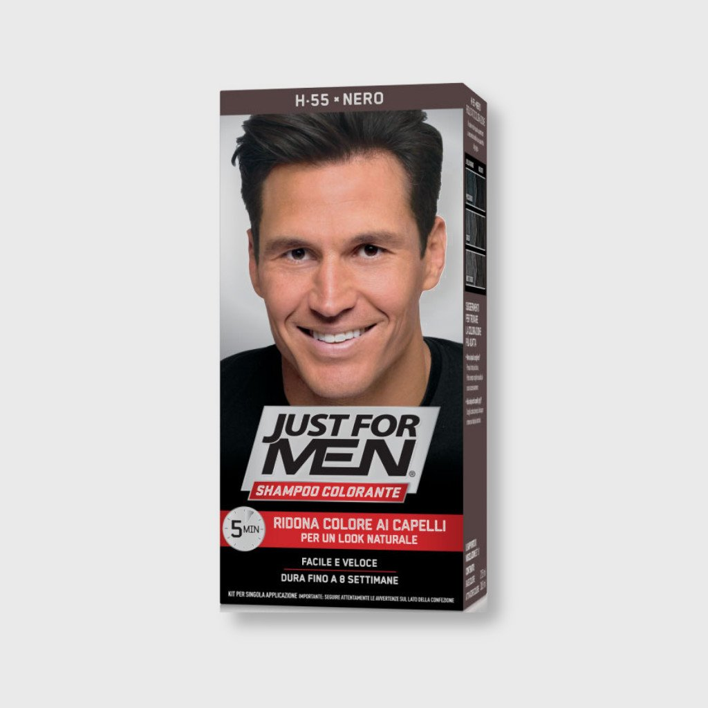 just for men color shampoo black