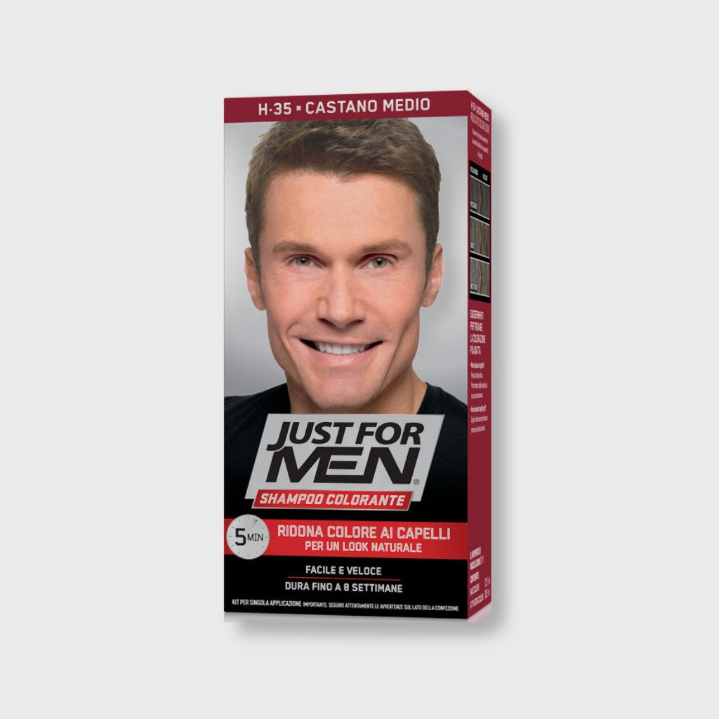 just for men color shampoo medium brown