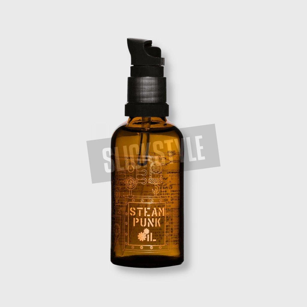 pan drwal steam punk oil olej na vousy