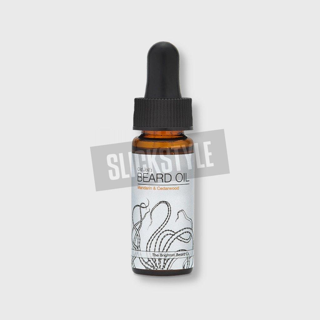 the brighton beard co mandarin cedar wood juniper beard oil 10ml