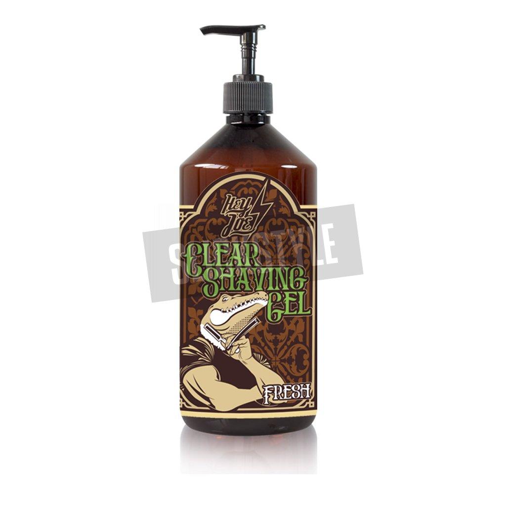 hey joe clear shaving gel fresh xxl