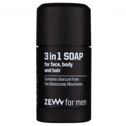 zew for men 3in1 soap mydlo na oblicej telo vlasy