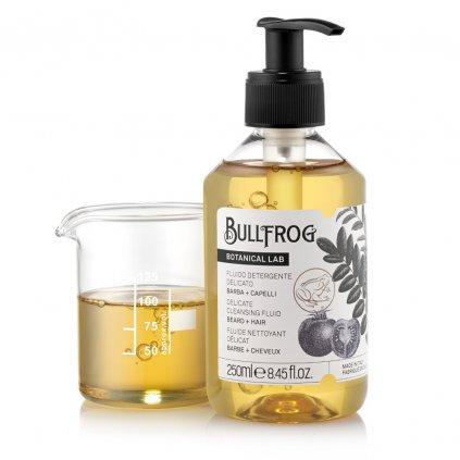 bullfrog delicate cleansing fluid zklidnujici a revitalizacni sampon na vlasy a vousy 02