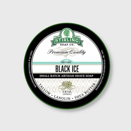 stirling soap company black ice mydlo na holeni