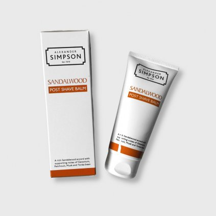 simpsons post shave balm sandalwood